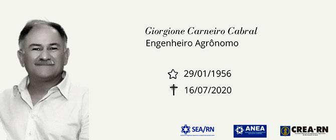 Nota de Falecimento: Giorgione Carneiro Cabral